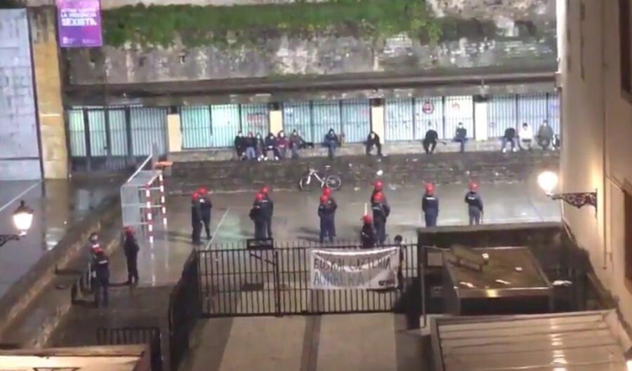 Imagen de la plaza de la Trinidad este sábado publicada por EH Bildu en twitter