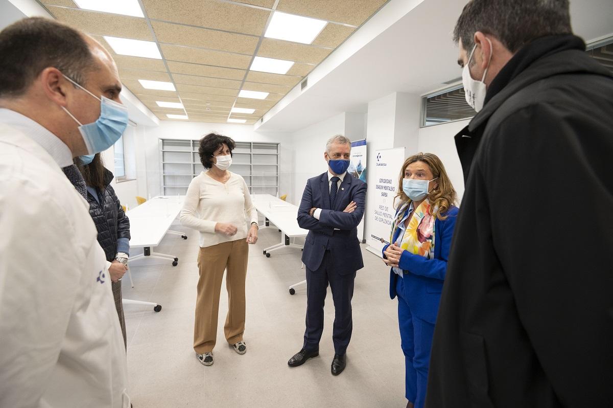 Visita esta mañana al ambulatorio de Aiete. Foto: Gobierno vasco