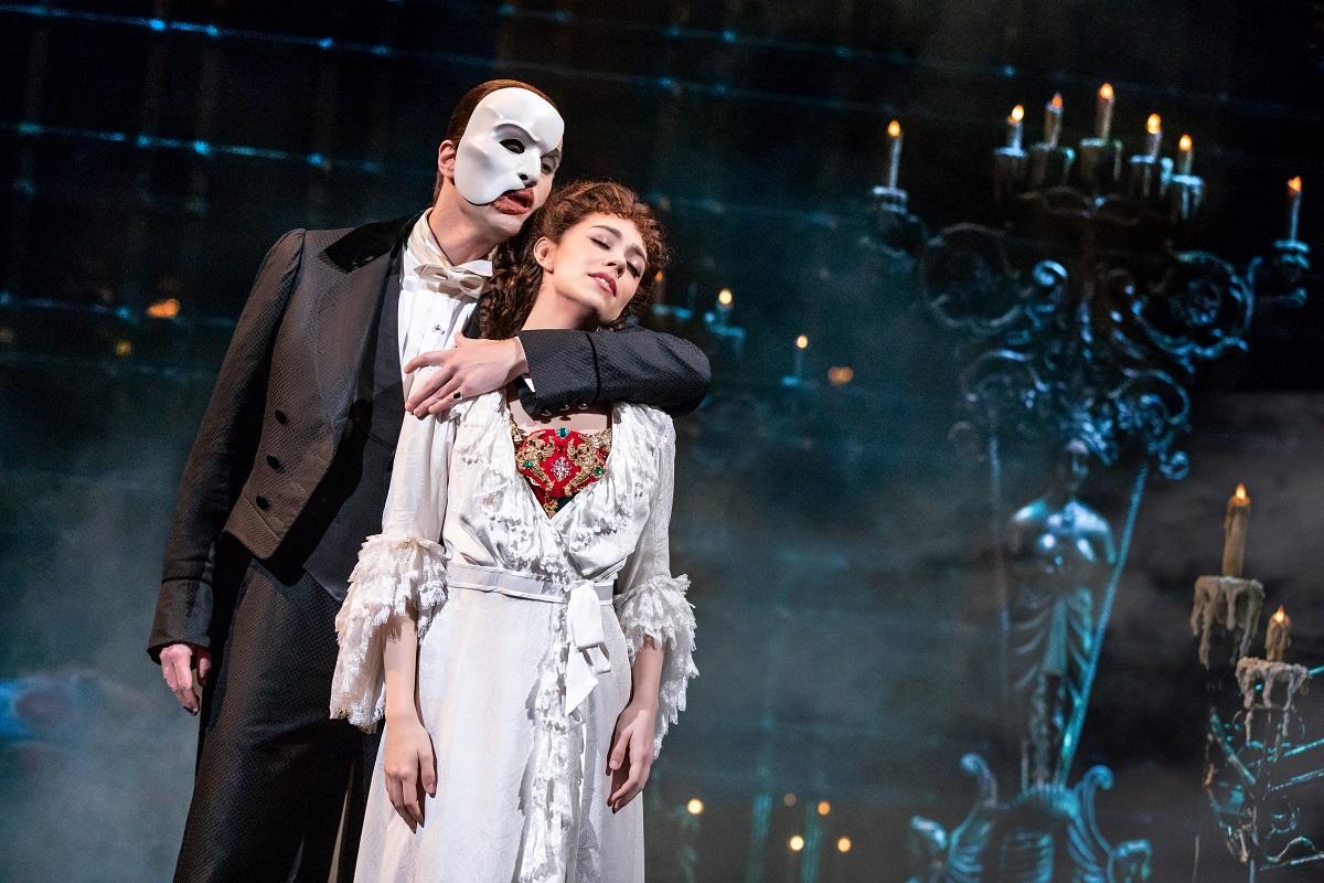 'El fantasma de la ópera', que no pudo disfrutarse en el Majestic Theatre de Nueva York por la pandemia. Foto. https://us.thephantomoftheopera.com/