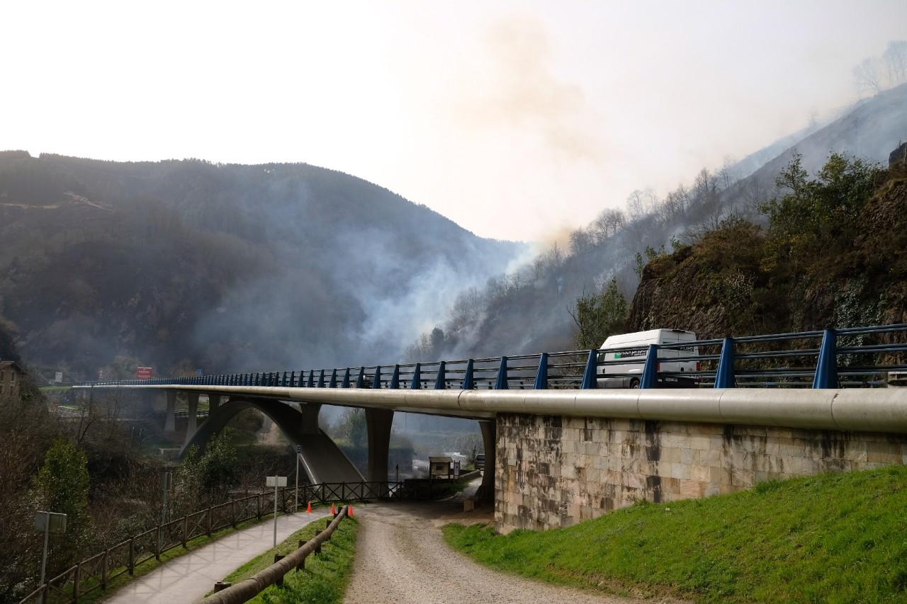 Foto del incendio en Endarlatsa: Santiago Farizano