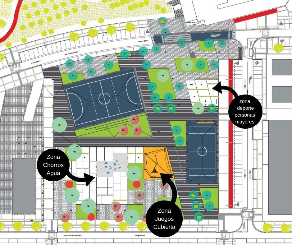 Arteleku plano 1 - Avances para urbanizar la plaza Arteleku de Txomin Enea