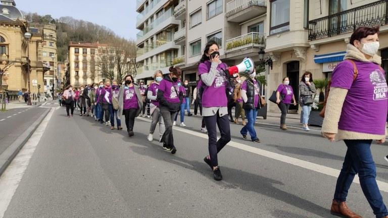 Manifestación de hoy. Foto: ELA