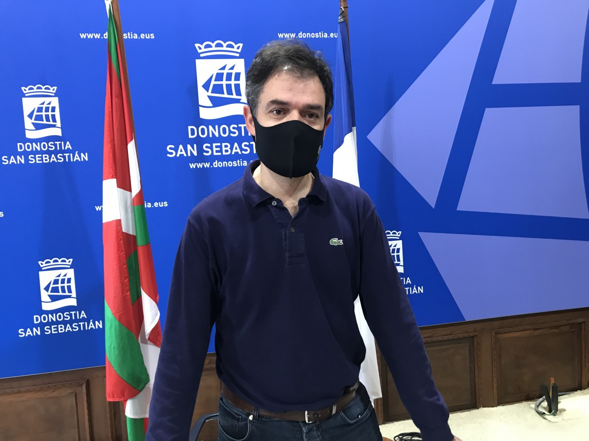 Ricardo Burutaran esta mañana. Foto: EHBildu