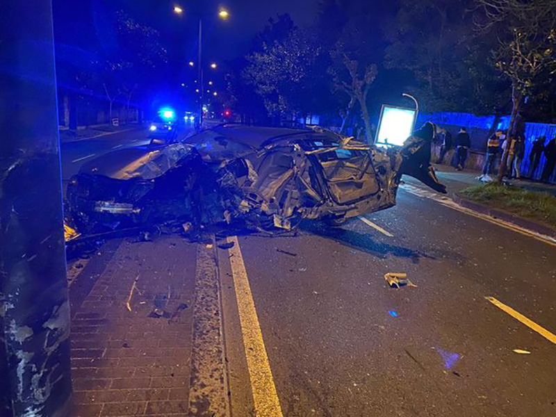 Accidente en la Avenida Alcalde José Elosegi. (Imágenes compartidas en las redes sociales)