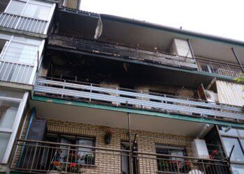 El inmueble afectado en la calle Garro. Fotos: Santiago Farizano