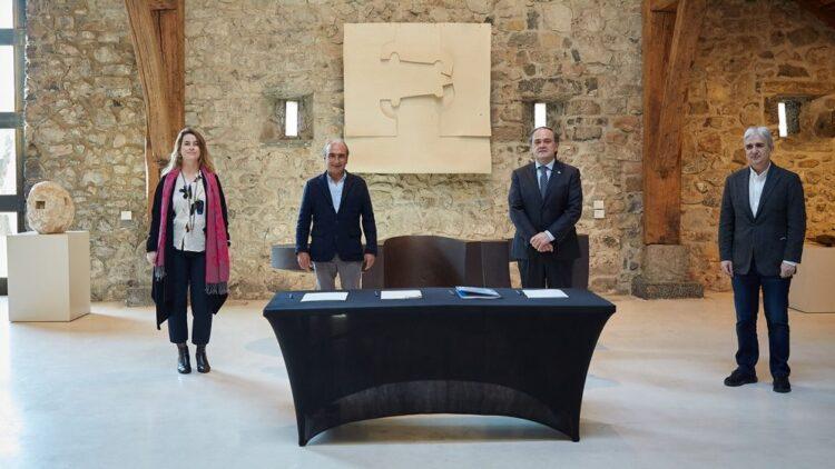 Acuerdo Real Sociedad y Fundación Chillida. Foto: Real Sociedad