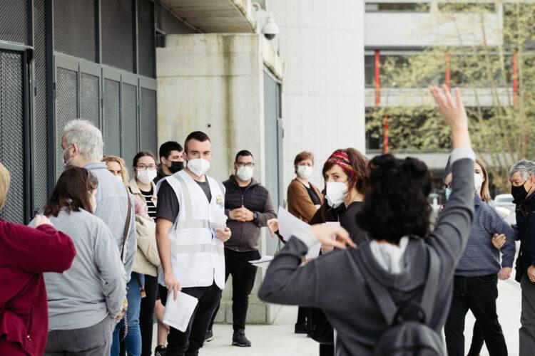Archivo. Imagen de la vacunación en Anoeta estos pasados días. Foto: Santiago Farizano
