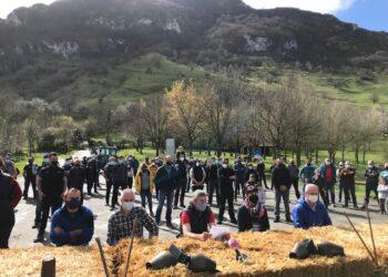 Imagen de la concentración. Foto: Enba