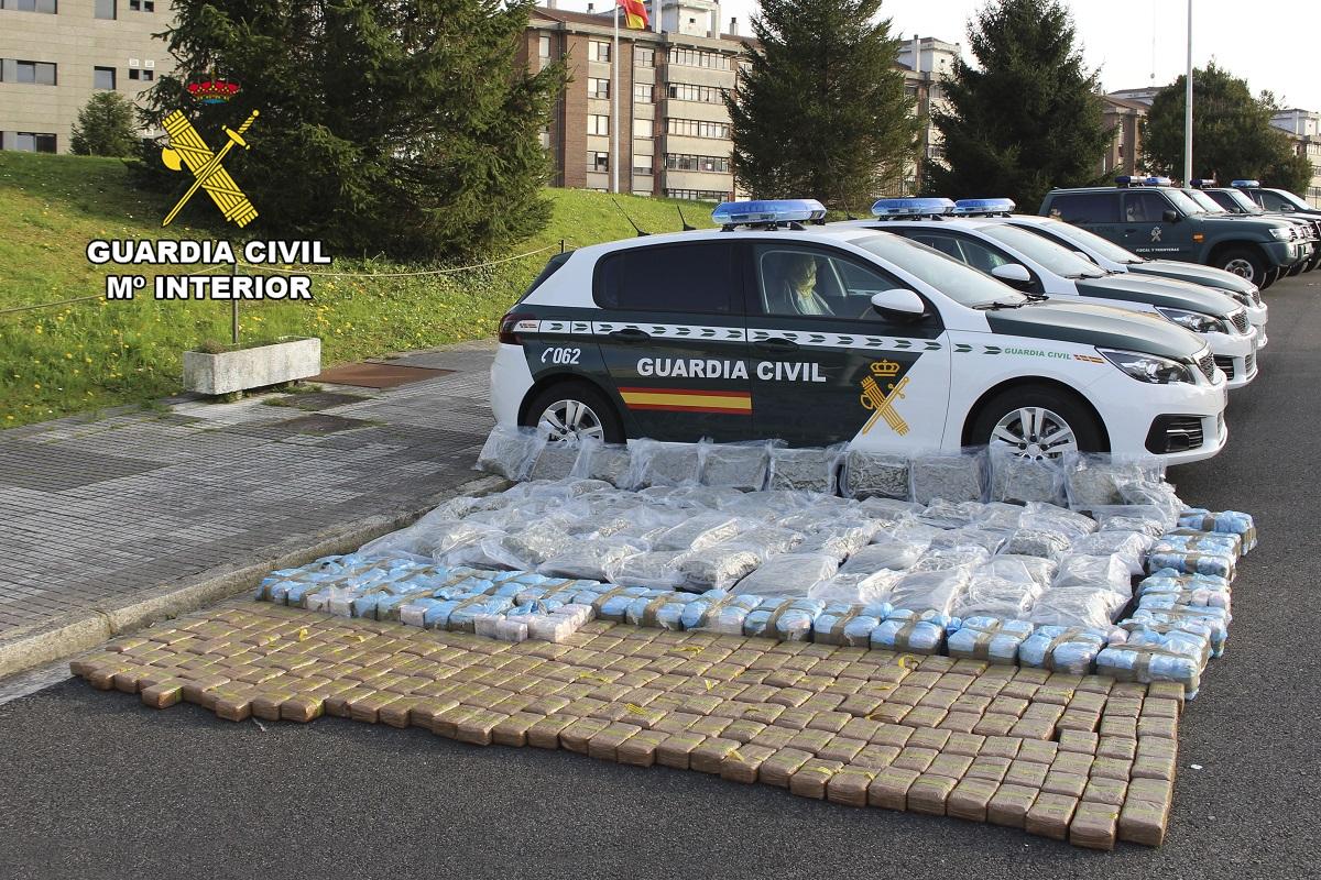 La droga incautada. Foto: Guardia Civil