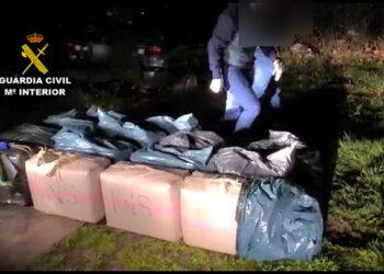 Imagen de la droga incautada. Foto: Guardia Civil