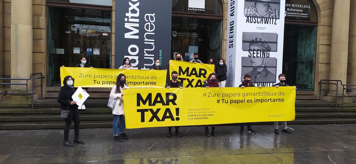 Presentación de la marcha. Foto: Sos Racismo