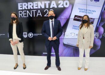 Presentación de la campaña de la renta 2020 en Gipuzkoa. Foto: Diputación