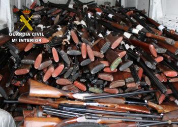 Armas destruidas en Gipuzkoa. Foto: Guardia Civil