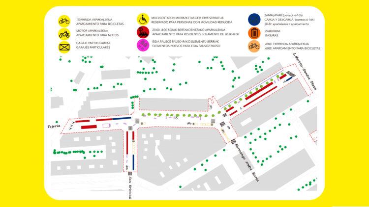 Plano de Egia Pausoz Pauso. Foto: Ayuntamiento de San Sebastián