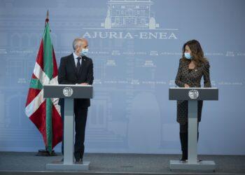 Erkoreka y Olatz Garamendi. Foto: Gobierno vasco