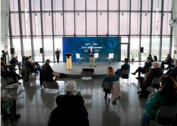 Markel Olano durante la presentación de la estrategia Elkar Ekin lanean. Foto: Diputación