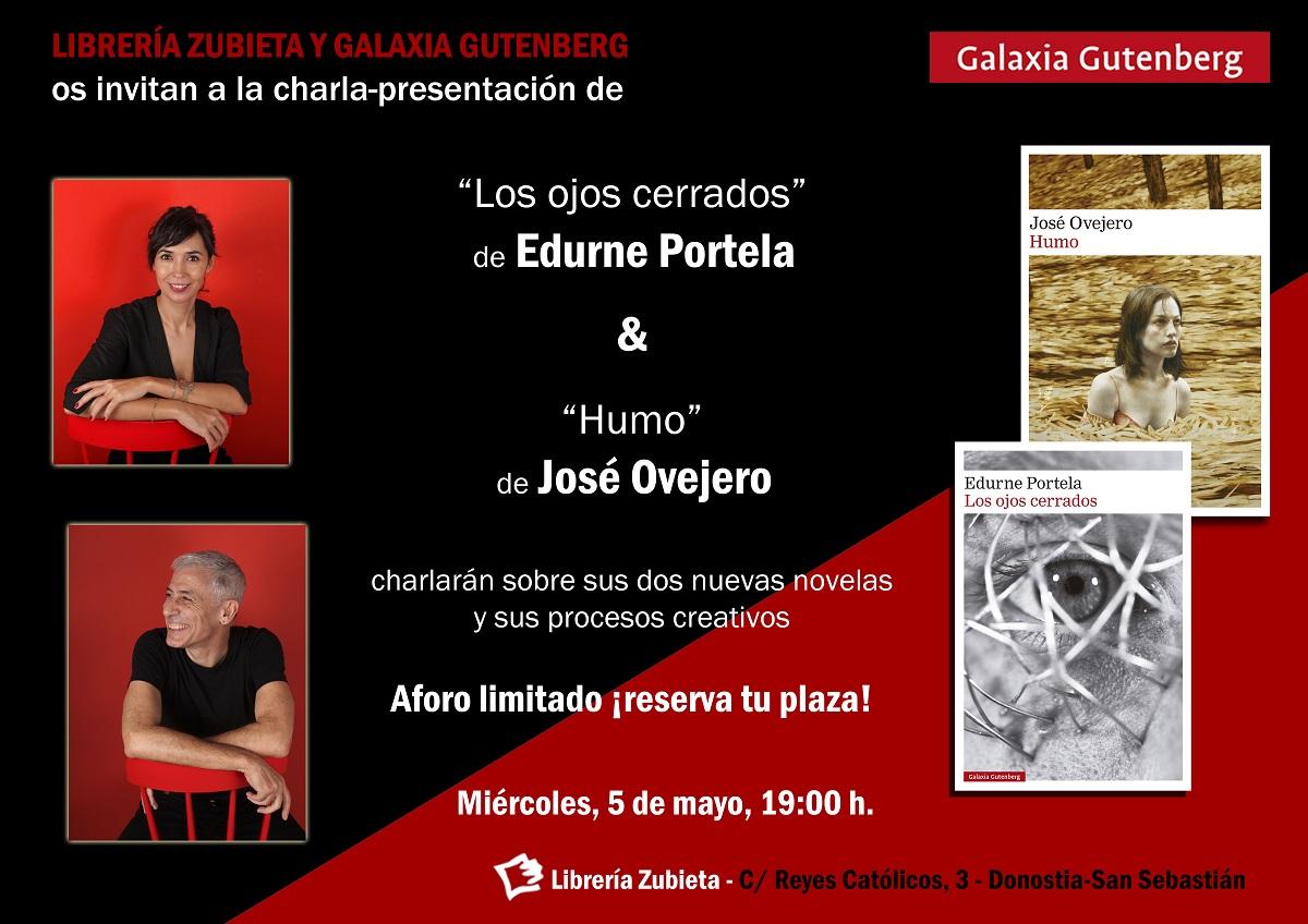 Invitacion edurne portela jose ovejero Libreria Zubieta - Cita en Librería Zubieta con Edurne Portela y José Ovejero