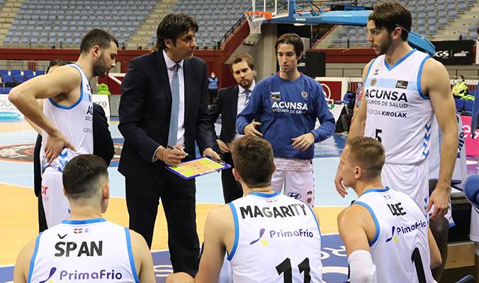 El equipo de Marcelo Nicola lleva 6 victorias y 22 derrotas. Foto: Acunsa Gipuzkoa Basket