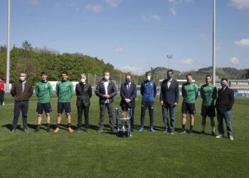Visita institucional a Zubieta tras ganar la Copa. Foto: Sara Santos