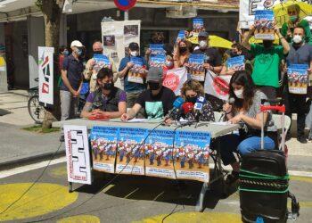 Vecinos de Egia en la rueda de prensa del sábado. Foto: Asamblea de Egia 22