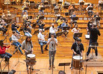 Kalakan eta Euskadiko Orkestra entsegu batean. Argazkia: Euskadiko Orkestra