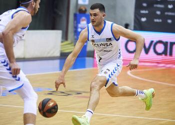 xabi Oroz en un partido de esta temporada. Foto: Gipuzkoa Basket
