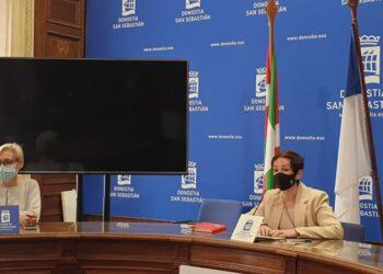 Archivo. Haizea Garay, en una de sus comparecencias en el Ayuntamiento. Foto: Ezker Anitza IU