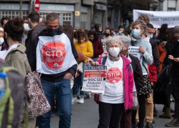 Marcha por el derecho a la vivienda en Donostia. Fotos: Santiago Farizano