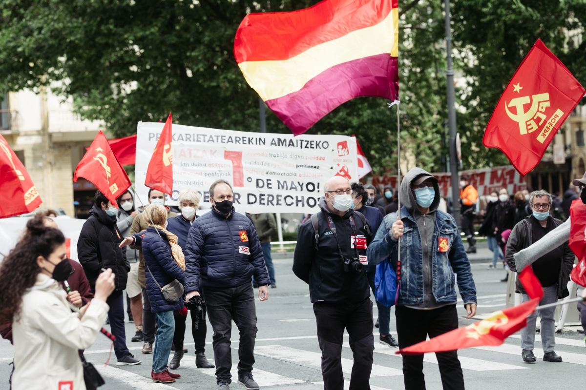 donostitik manifestacion 1 de mayo 23 - 1 de Mayo: Miles de trabajadores recuperan las calles de Euskadi tras la ausencia en 2020