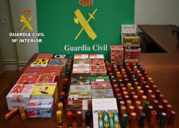 Cartuchos requisados en Correos. Foto: Guardia Civil