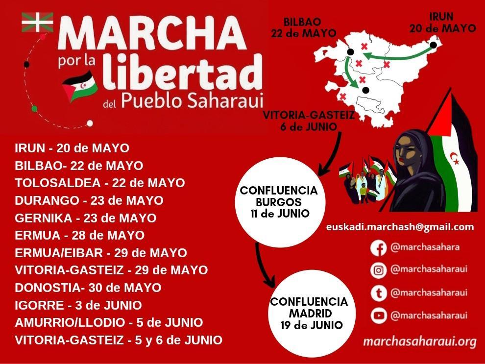 marcha saharaui2 - Marcha por la libertad del pueblo saharaui en Donostia