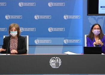 BEgoña Pedrosa en la rueda de prensa de hoy. Foto: Irekia