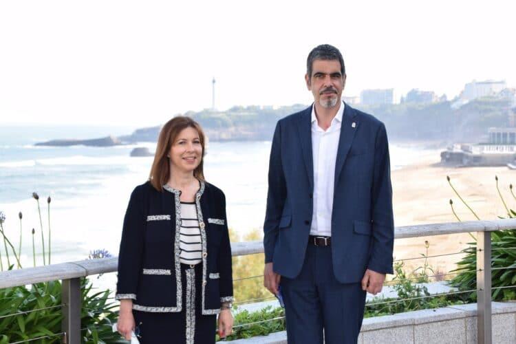 Los alcaldes de Biarritz y Donostia. Foto: Ayto.