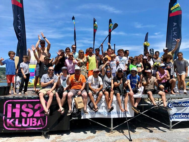 Celebración de un Bikingo Eguna en Hondarribia antes de la pandemia. Foto: Gipuzkoako Surf Federazioa