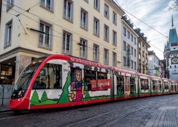 Tranvía en Friburgo. Foto: CAF