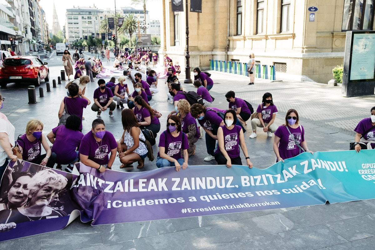 DSCF4522 - 250 días de huelga en las residencias de Gipuzkoa