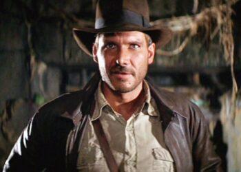 Harrison Ford como el arqueólogo Indiana Jones.