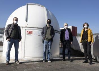 Jorge Hernández y el grupo de Ciencias Planetarias. Foto: UVP/EHU