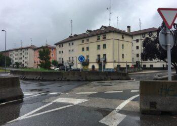 Rotonda supuestamente provisional en Martutene. Foto: A.A.