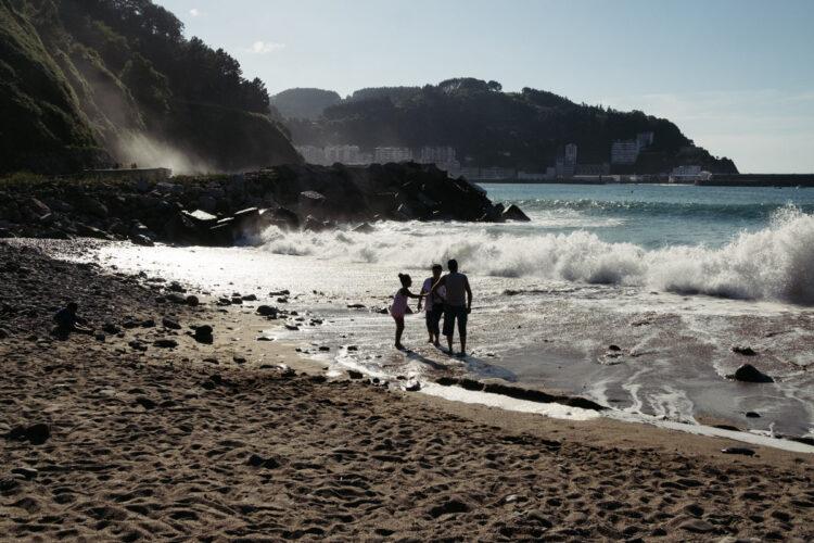 Playa de Saturraran en Mutriku. Foto: Santiago Farizano