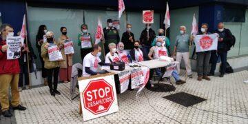 Imagen de archivo de la concentración el 3 de junio en Donostia. Foto: Stop Desahucios