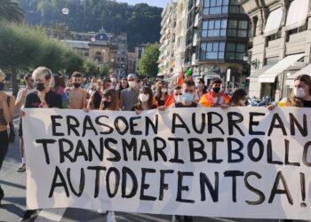 Manifestación en Donostia. Foto: Alternatiba Gipuzkoa (vía twitter)