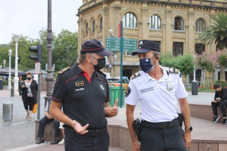 Presentación en Donostia del dispositivo entre Ertzaintza y Guardia Municipal. Foto: Departamento de Seguridad