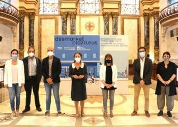 Presentación de dssmarketplaza.eus esta mañana en el Ayuntamiento. Foto: Ayto