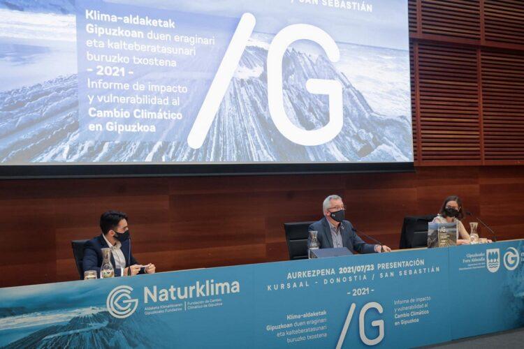 Presentación del informe de Naturklima. Foto: Diputación