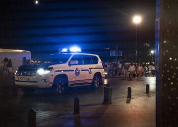 Vigilancia nocturna en Donostia. Foto: Santiago Farizano