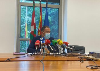 Denis Itxaso hoy en Donostia. Foto: Delegación de Gobierno