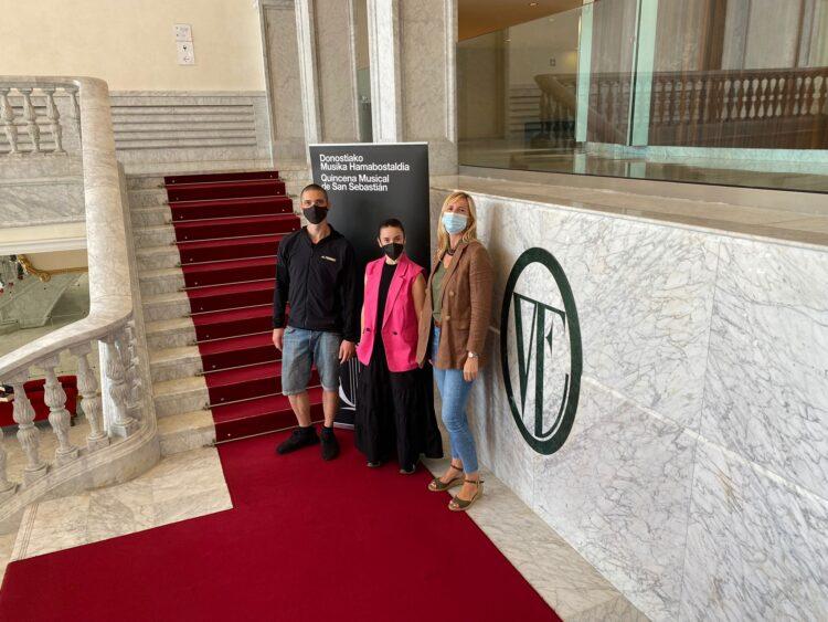Presentación de 'Elkarrizketa Ilunak', que llega al Teatro Victoria Eugenia de la mano de Iratxe Ansa e Igor Bacovich. Foto: Quincena Musical