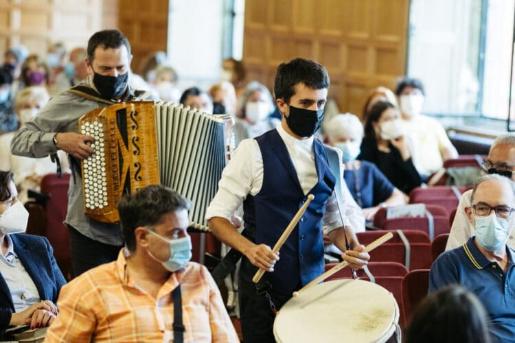 Joxan Goikoetxea eta Euskamerata en el Palacio Miramar en la sesión inaugural de Quincena Musical. Fotos: Santiago Farizano
