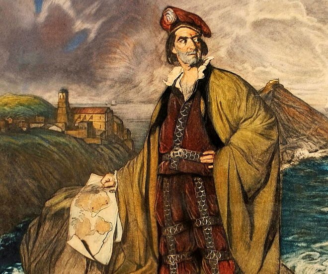 Juan Sebastián Elcano. Obra de Zuloaga en la Diputación de Gipuzkoa.